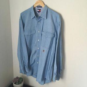 Vintage denim Tommy Hilfiger Button Up Shirt